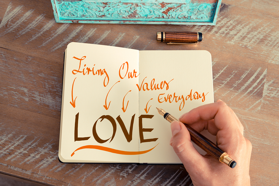 Message Love Living Our Values Everyday