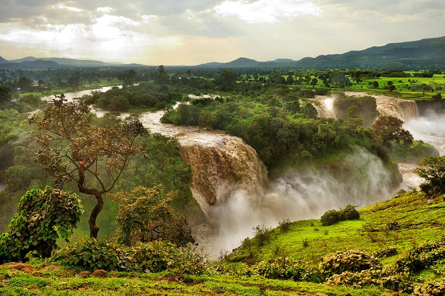 Blue Nile Falls Ethiopia Africa, North Africa
